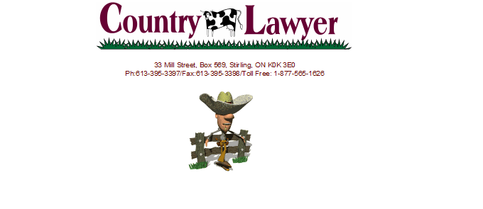Country Lawyer-Brad Comeau